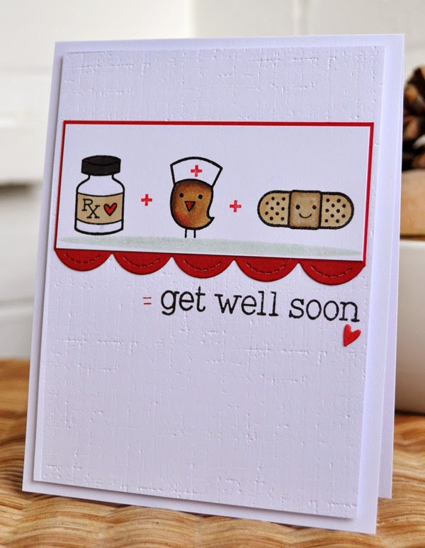 Inky Fingers Lawn Fawn Get Well Card