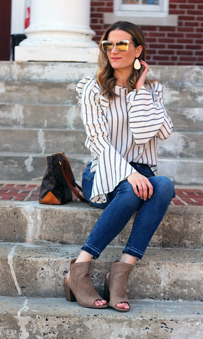Spring Outfit Ideas #springstyle #stripetop