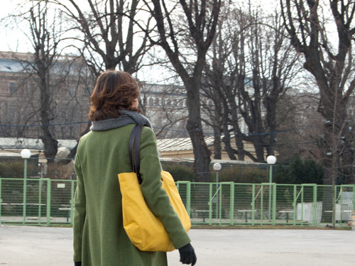 Tasche in gelb