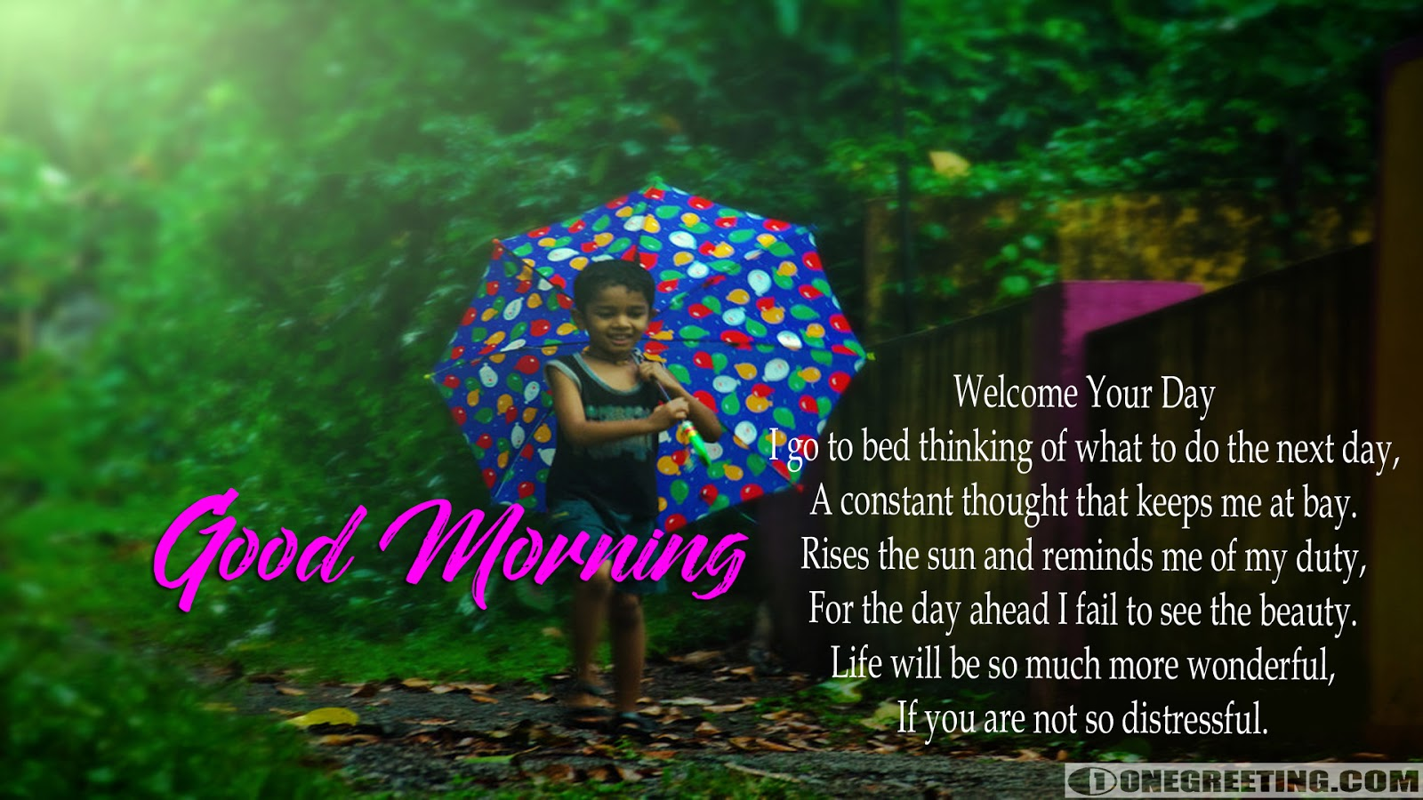 Welcome Your Day Good Morning One Greeting