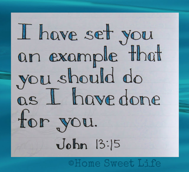 Scripture Writing, Jahn 13:15