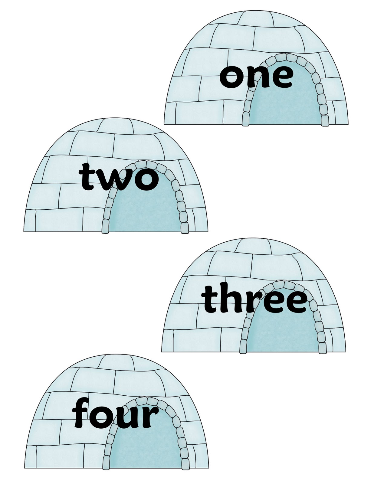 The Crazy Pre K Classroom Arctic Freeze Literacy Number
