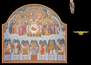 τοιχογραφία από την Τράπεζα της Ιεράς Μονής Παρακλήτου Ωρωπού