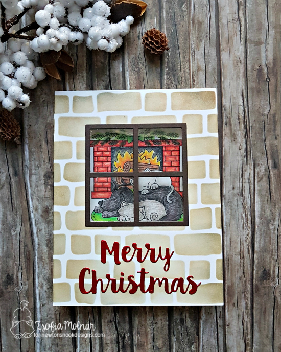 Merry Christmas by Zsofia features Fireside Friends by Newton's Nook Designs; #newtonsnook
