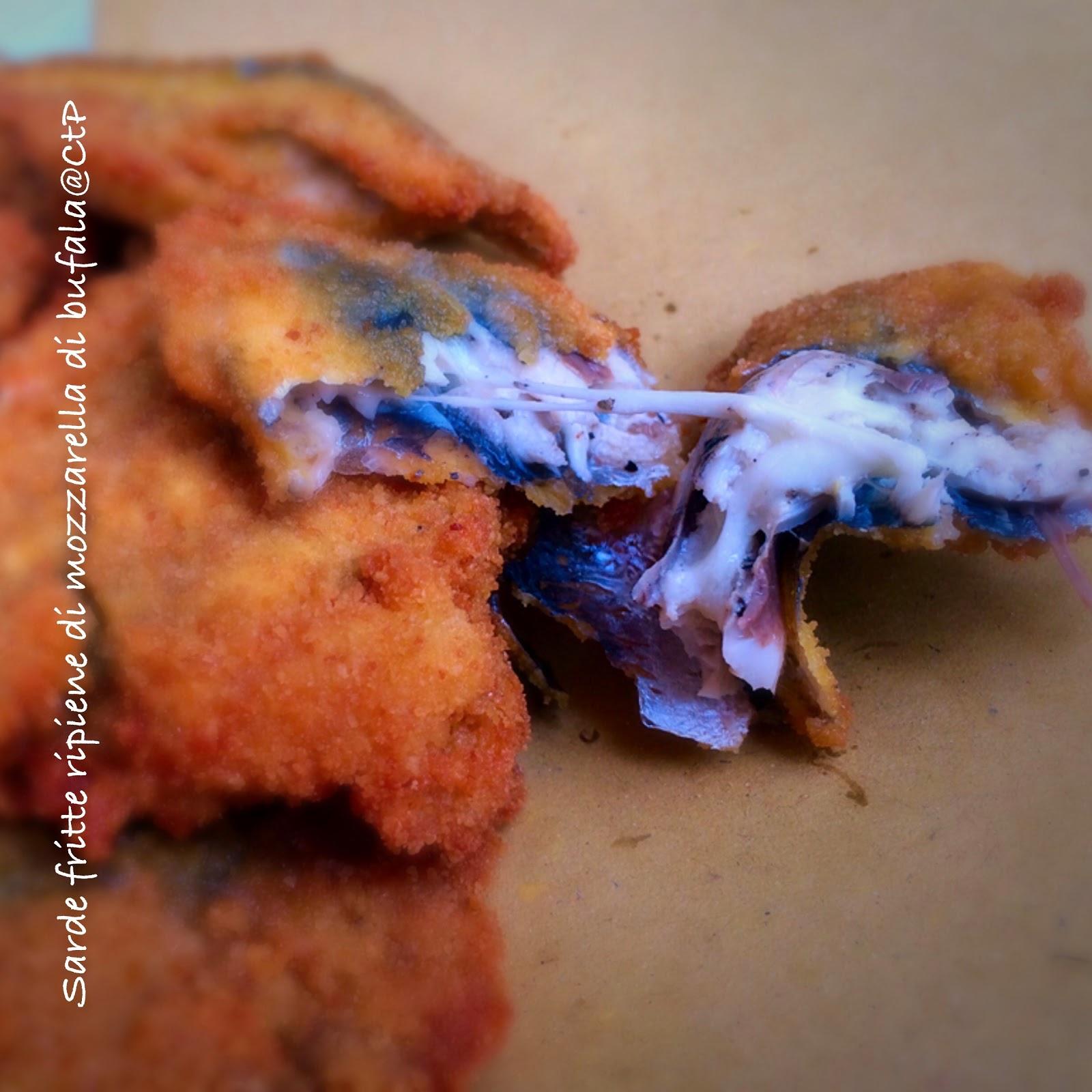 Sarde fritte impanate ripiene di mozzarella di bufala  alessandra ruggeri