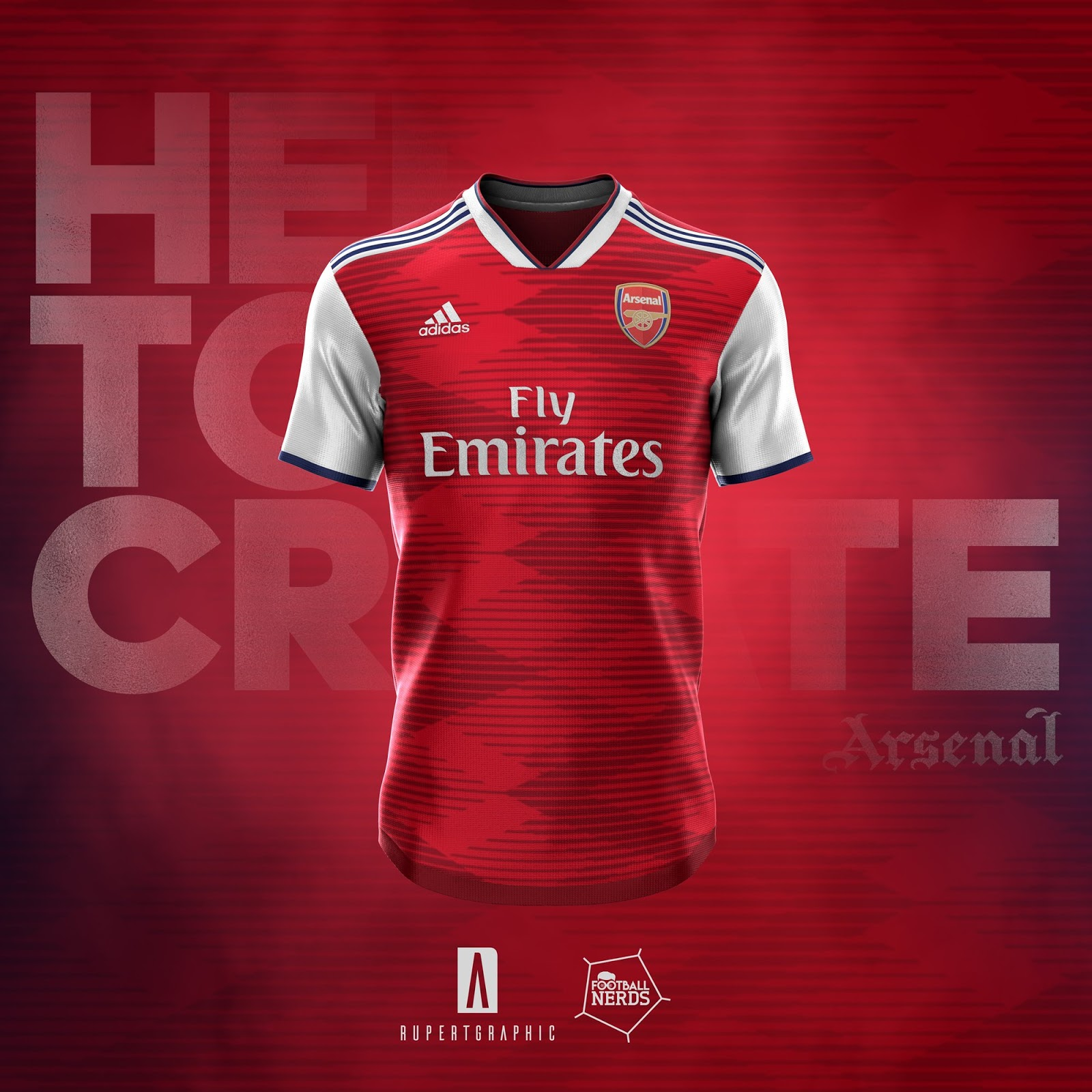 ebb7b7993b5 Stunning Adidas Arsenal 19-20 Home, Away & Third Kit Concepts by ...