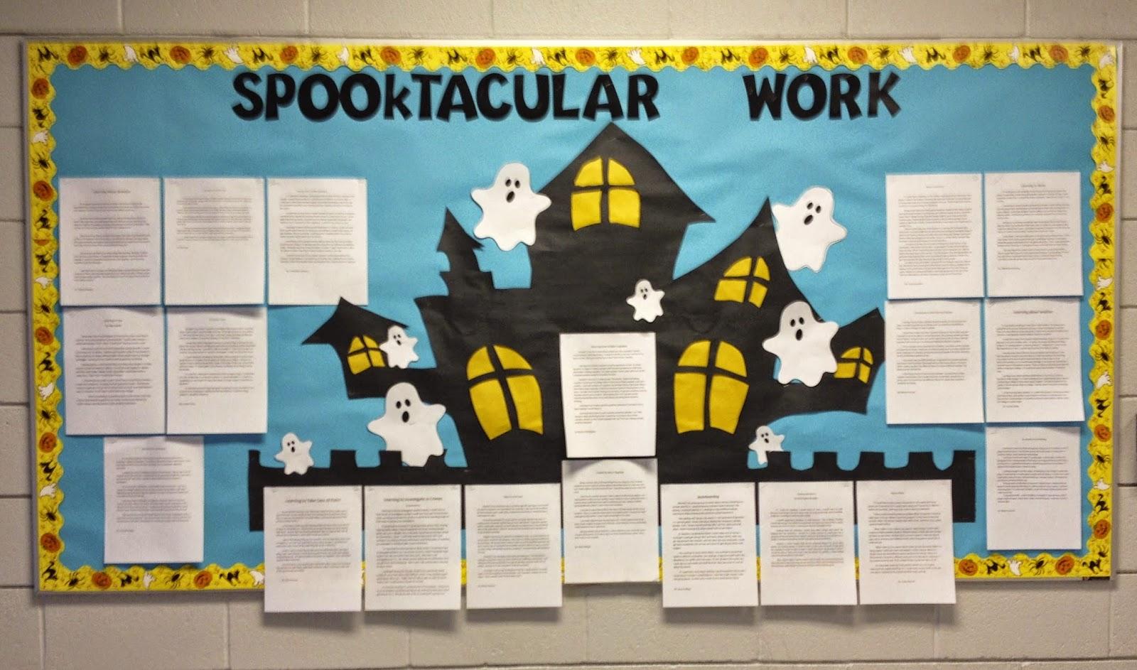 halloween ghost bulletin board ideas