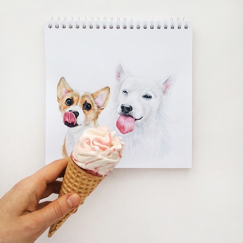 11-Ice-cream-Time-Valerie-Susik-Валерия-Суслопарова-Cats-and-Dogs-Interactive-Animal-Drawings-www-designstack-co