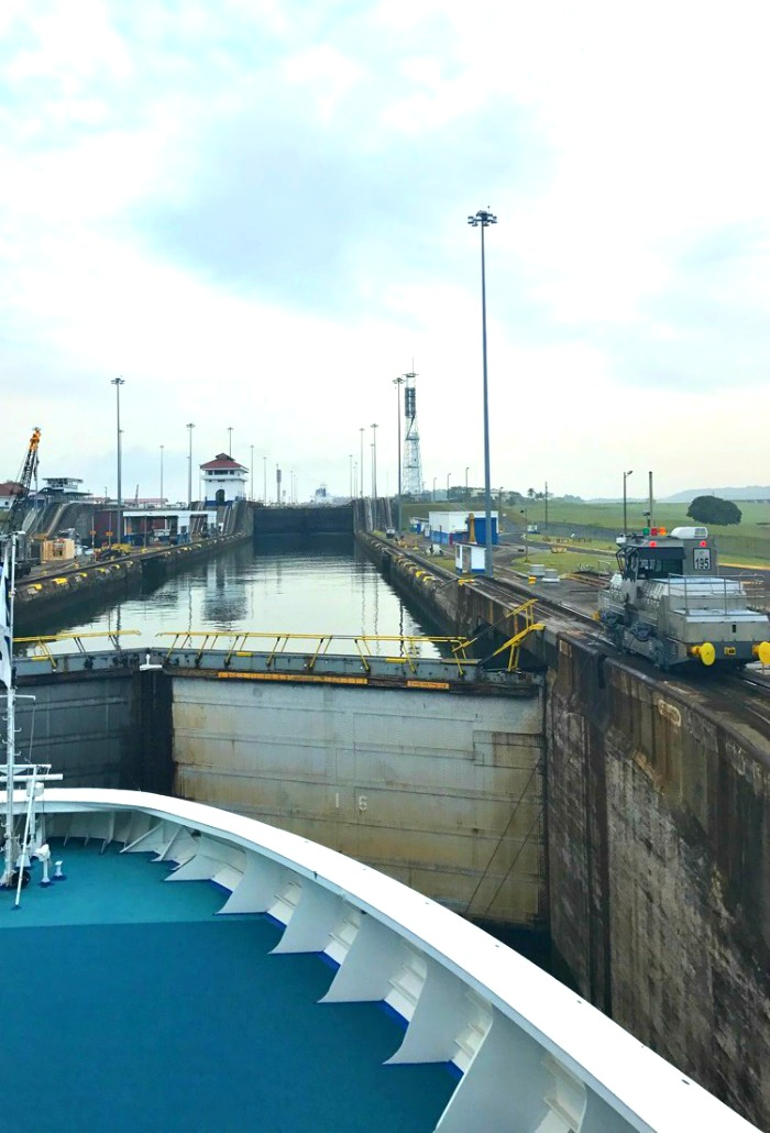 Going through the Panama Canal lock system