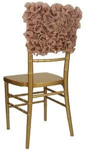 ruffle wedding chair cover