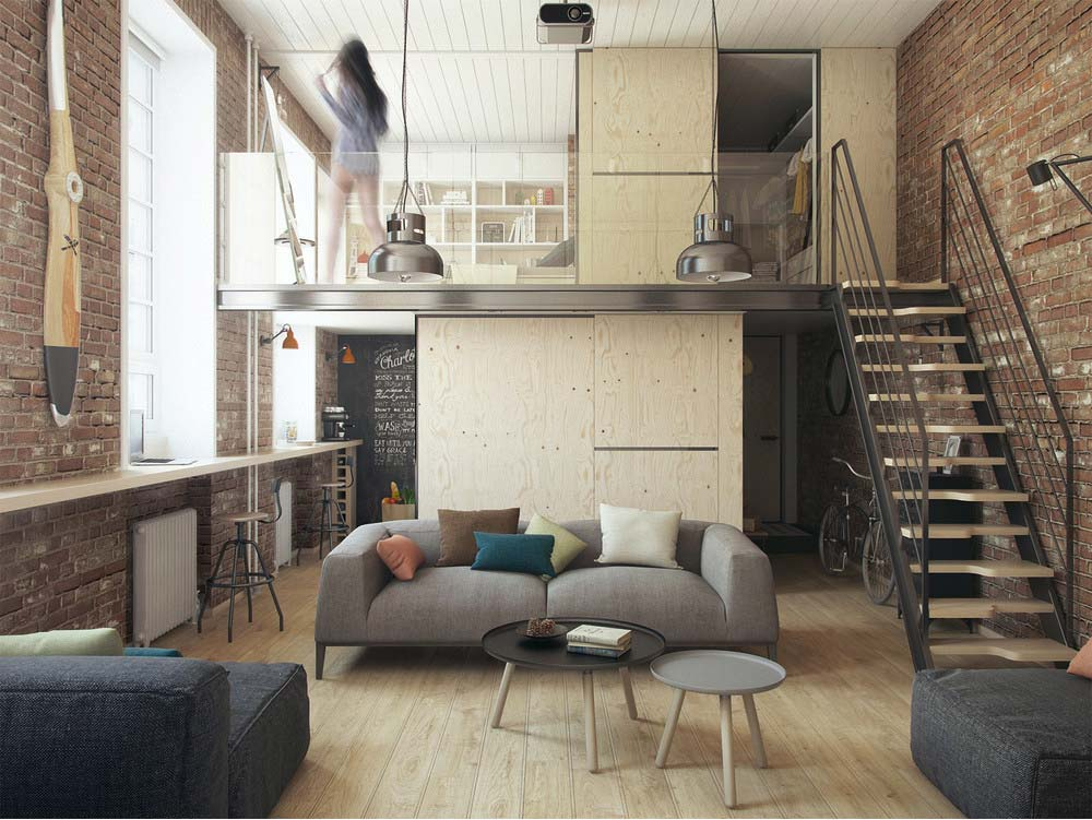 un piccolo loft open space