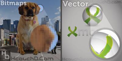 رسوم متجهية ( Vector ) و صور نقطية ( Bitmap )