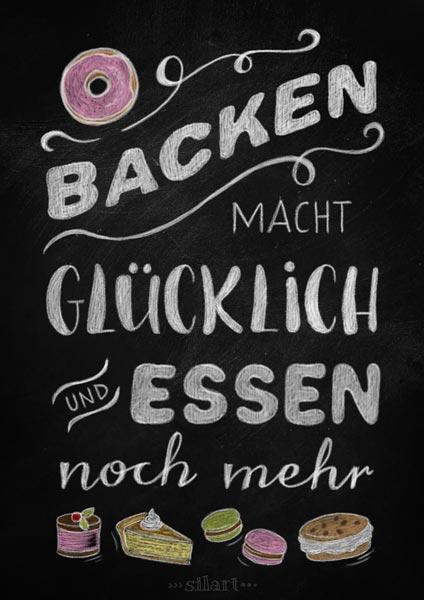Backen macht gluecklich, kitchen chalkboard