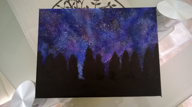 Night Sky Painting, Step 2