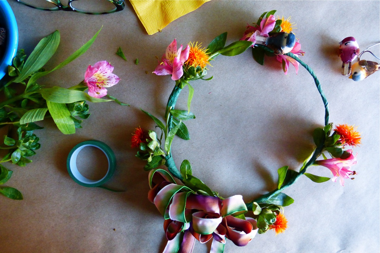DIY, Do It Yourself, DIY Autumn Floral Crown, Plum Blossom Autumn Floral Crown, floral crown, flower crown, head wreath