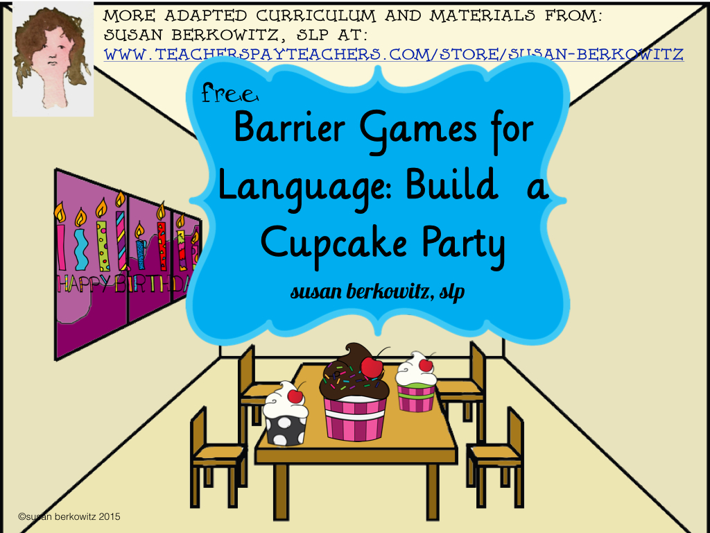 Susan Berkowitz S Free Barrier Game For Giving And Following Directions And Descriptions