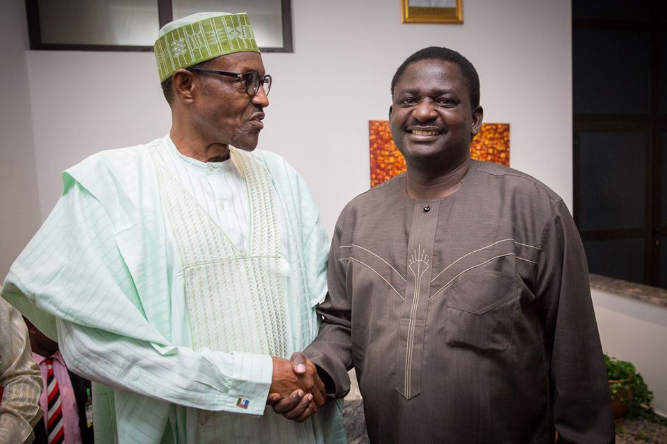 Image result for r Buhari and Femi Adesina