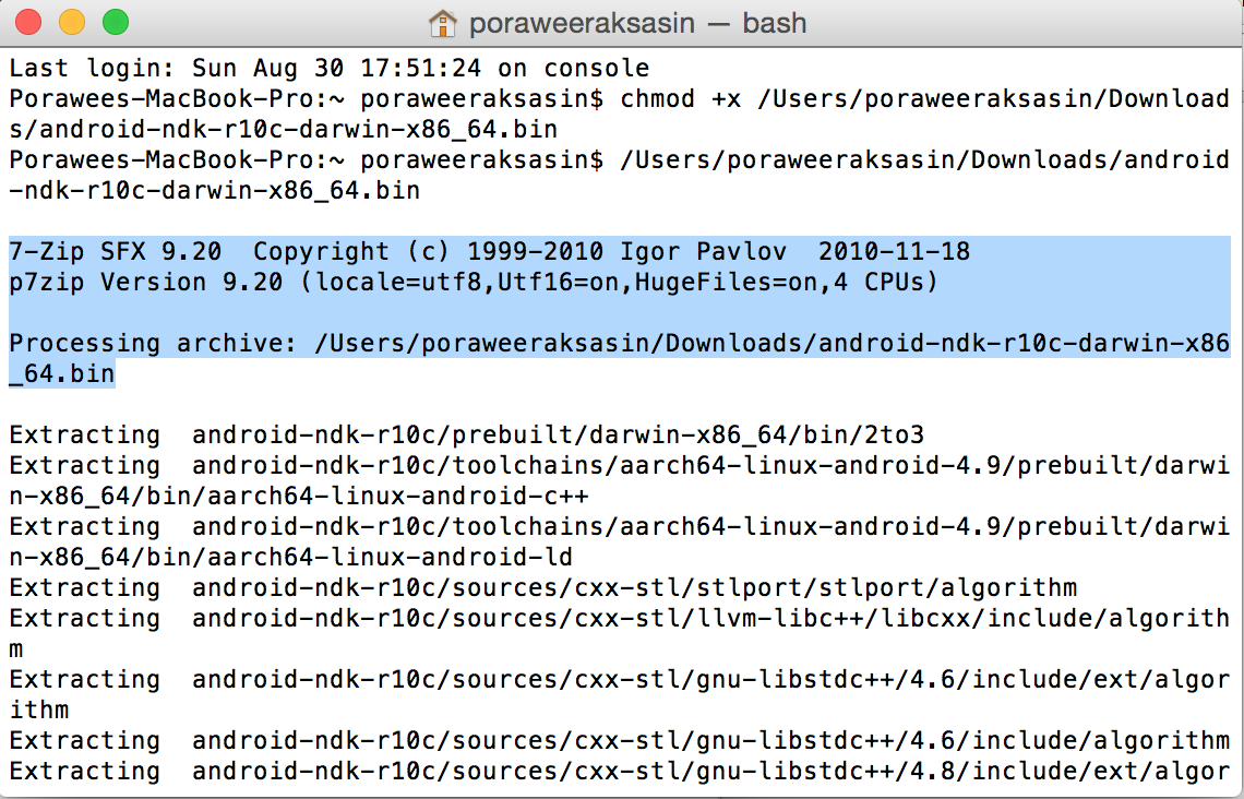 How to install/extract android ndk on Mac OS X - Wheres My Keyboard?