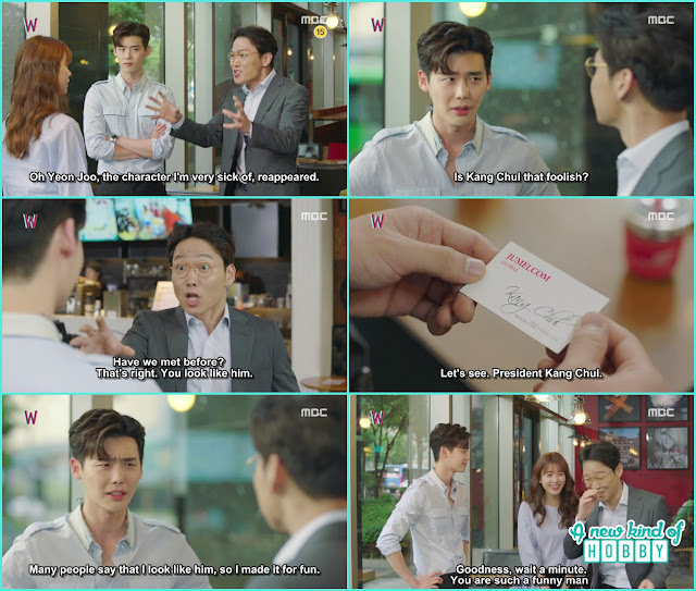 yeon jo professor doctor meet kang chul at the cafe  - W - Episode 13 Review - The Hypothesis & Unexpected Twist