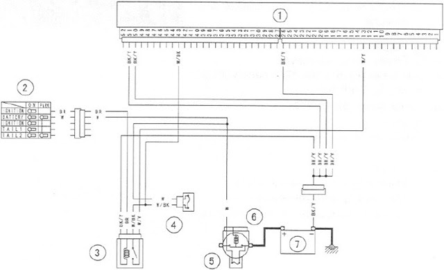 Power Source Wiring Diagram in 2004 Kawasaki Ninja ZX6R