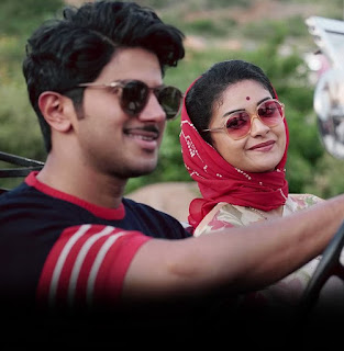 Keerthy Suresh in Saree with Cute Smile with Dulqer Salmaan in Mahanati 1