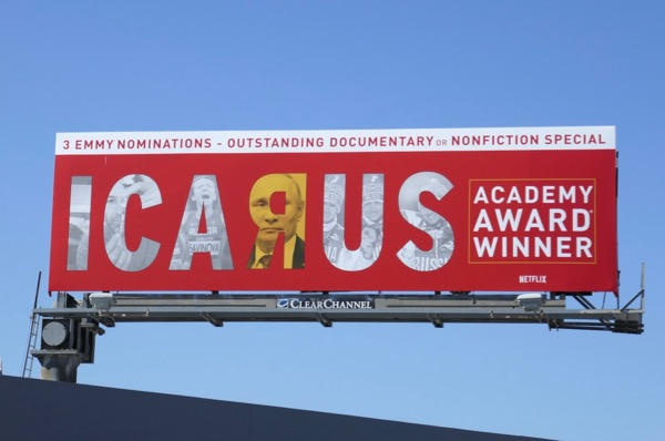 Icarus 2018 Emmy nomination billboard
