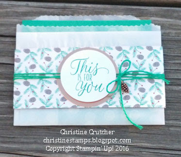 Stampin Up Tin of Tags