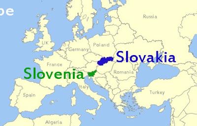 Slovenya'nın Yeri Gösteren Haritalar.