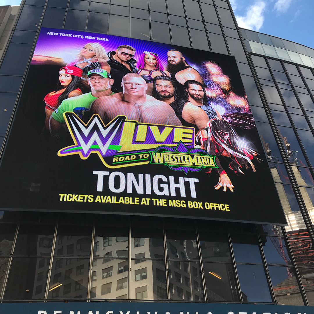 WWE Live Event Madison Square Garden New York 16th March 2018 Full Results  And Highlights