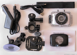 Actioncam Trevi GO 2200HD, accessori