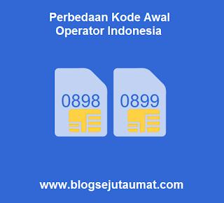 Perbedaan Kode Awal Operator Indonesia