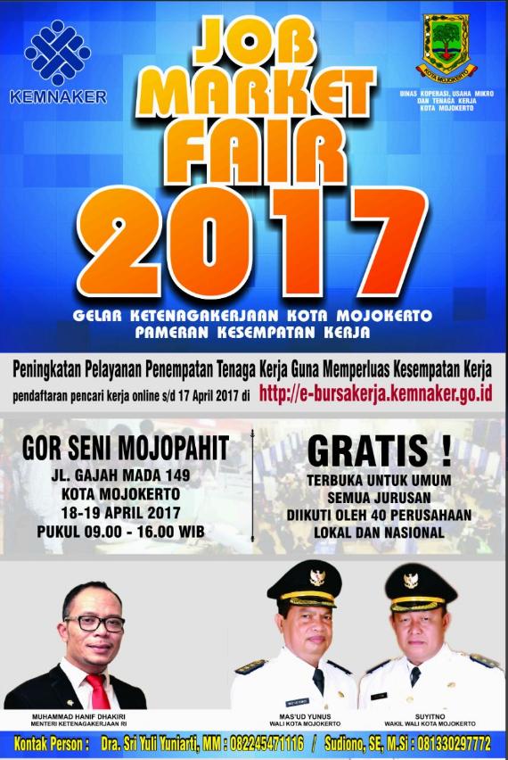 Bursa Kerja Daerah 2017 Kota Mojokerto
