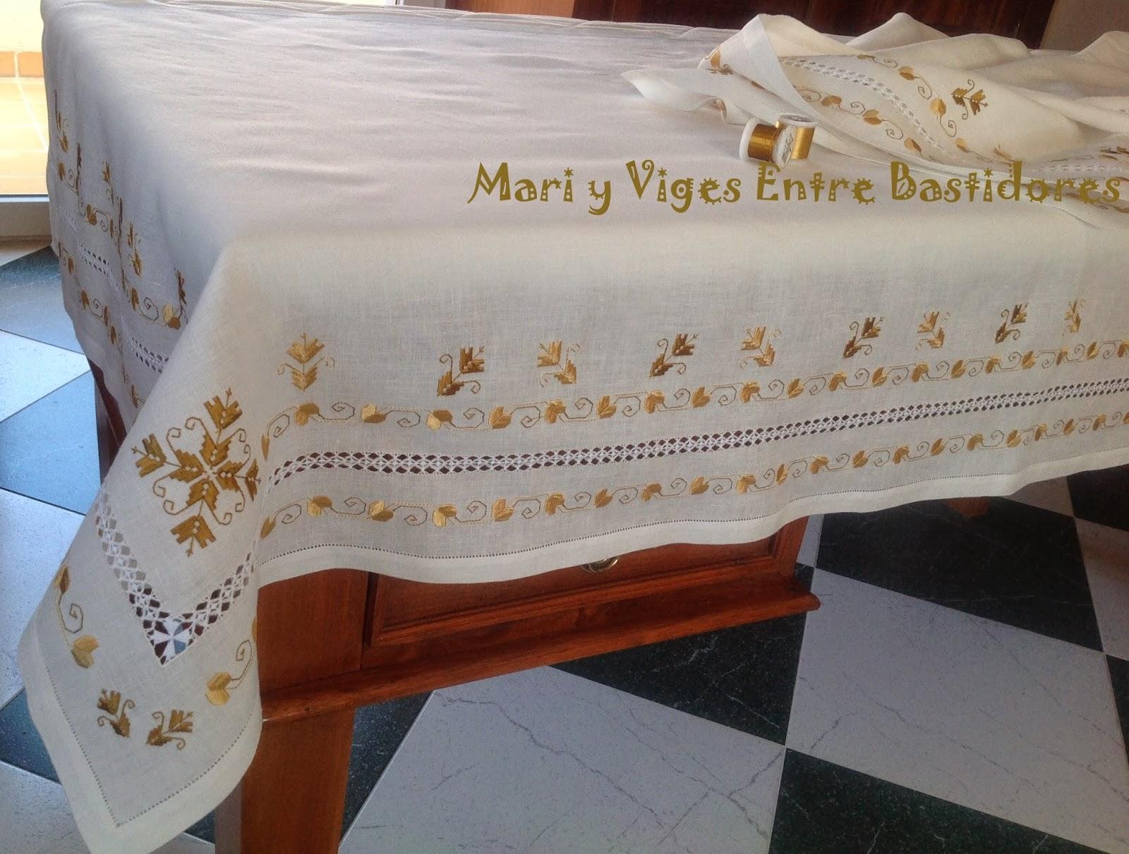 Mari Y Viges Entre Bastidores Mantel Para Altar De Lagartera - Manteles-para-bordar