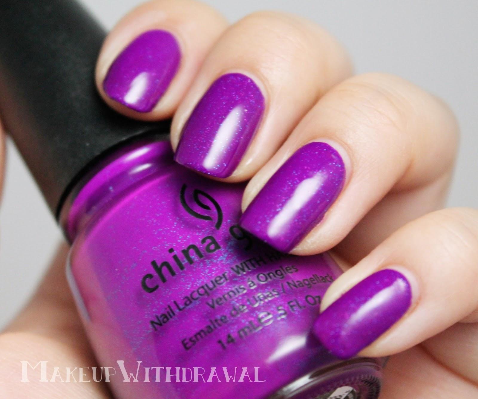 Purple Polish Spam Makeup Withdrawal
