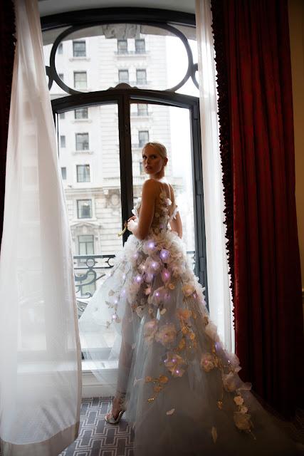 Karolina Kurkova in the lit up dress