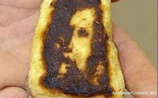 Imágen de Jesús en tostada