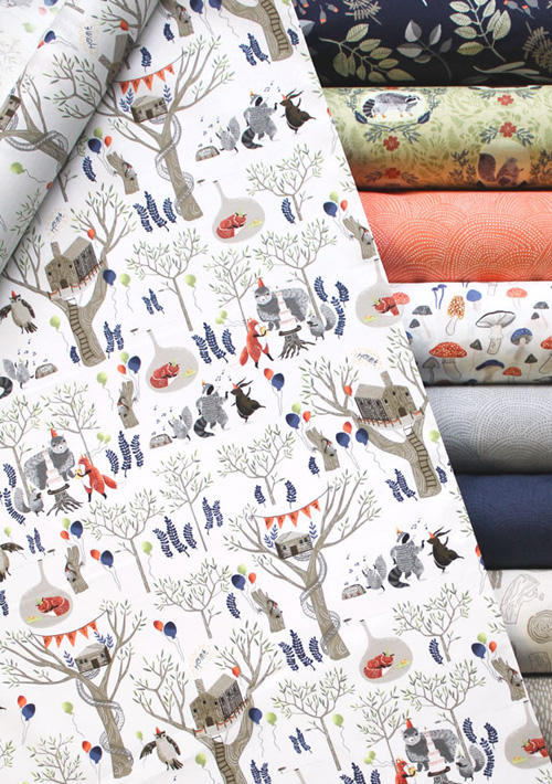 Ideal  uFoxtail Forest u Fabric Collection by Dear Stella