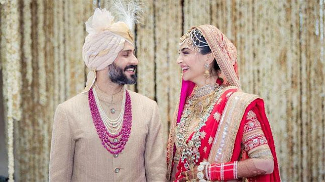 Sonam Kapoor wedding - First photo of newlyweds Sonam-Anand