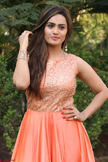 Actress Sakshi in beautiful orange Anarkali Dress Spicy Pics    009.jpg