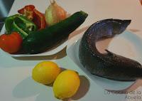 Corvina al Horno con Verduras.