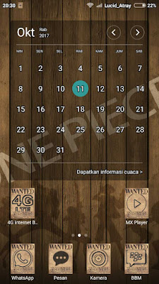 Kalender Tema Xiaomi Anime One Piece