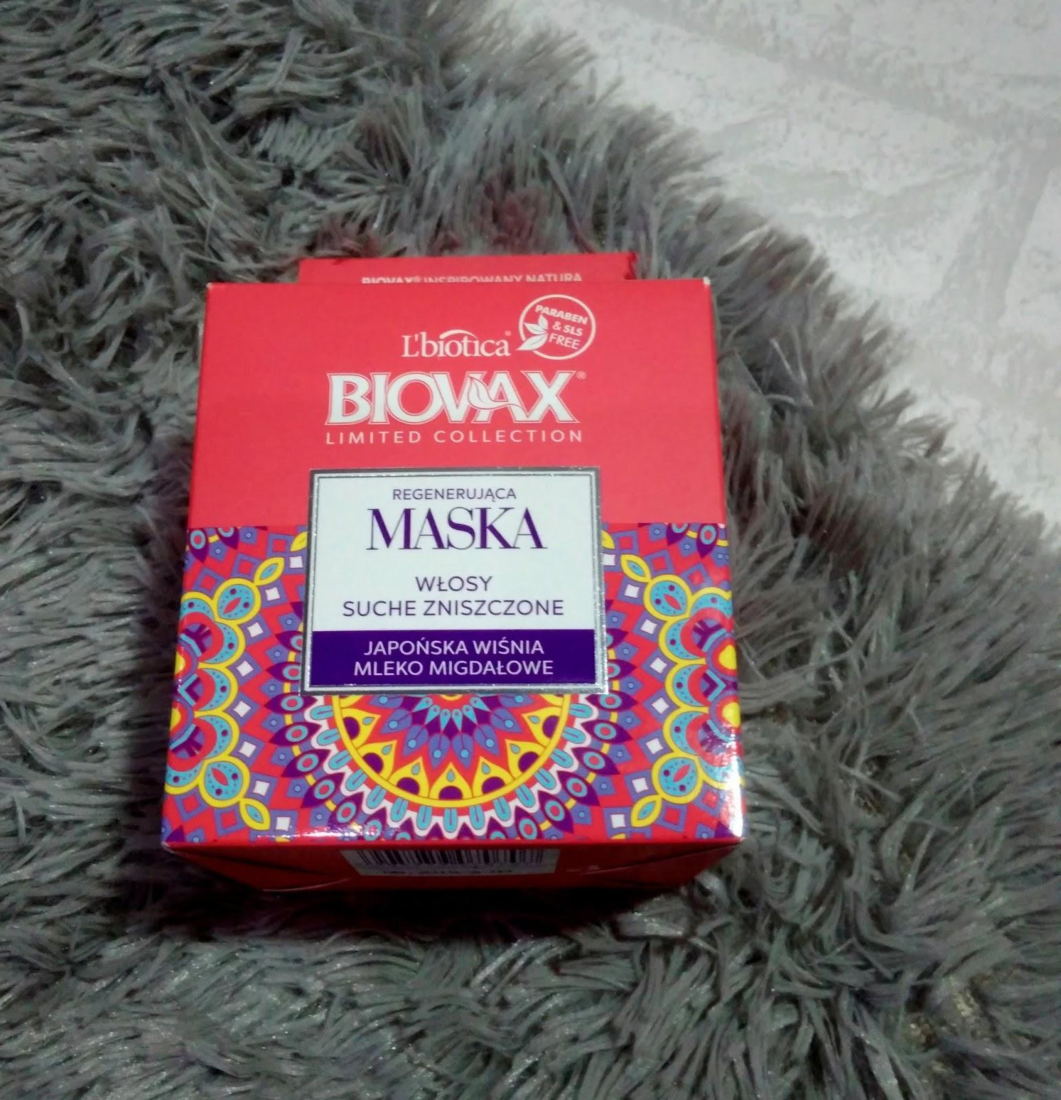 L'biotica Biovax - maska regenerująca Japońska wiśnia & mleko migdałowe