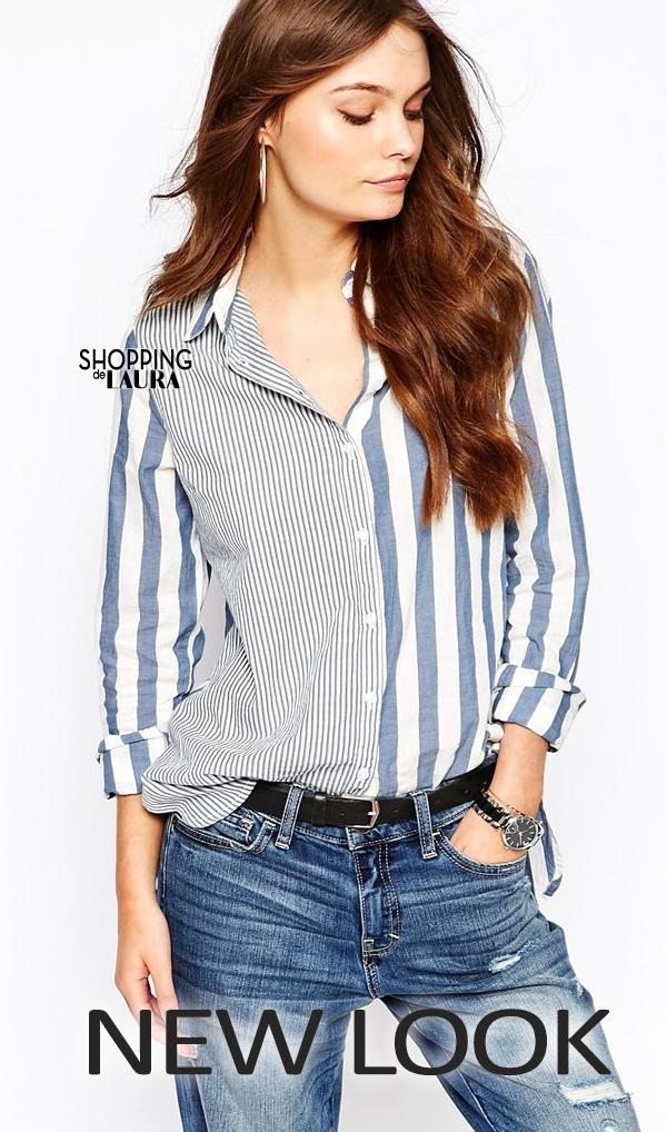 Chemise femme tendance : à rayures NEW LOOK