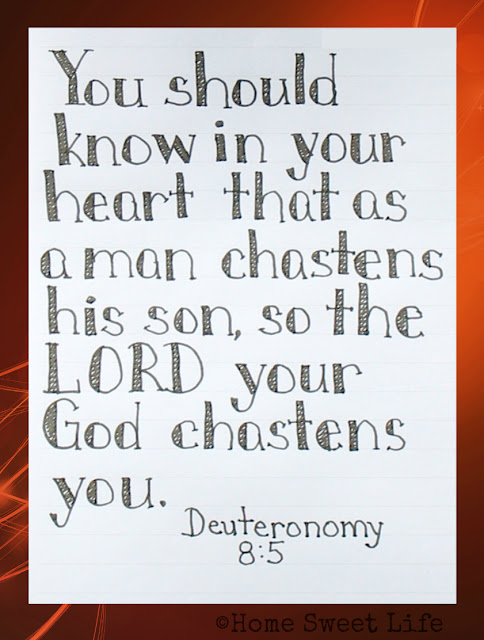 Scripture Writing, Deuteronomy 8:5