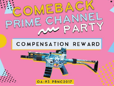 Event Kompensasi Kode Redeem Comeback Prime Channel Party PB Garena Evolution Indonesia 2018
