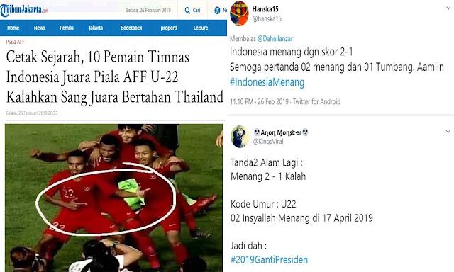 Timnas U-22 Kalahkan Juara Bertahan Thailand 2-1, Netizen: Tanda 02 Menang 01 Tumbang