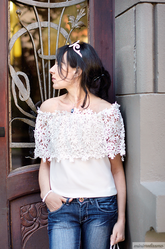 lace blouse, crop top