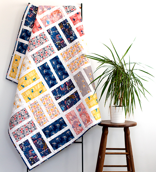 Courtyard Quilt Free Pattern designed by Michelle Engel Bencsko for Cloud9Fabrics, using Quilter's Cotton from Whitehaven by Feena Brooks