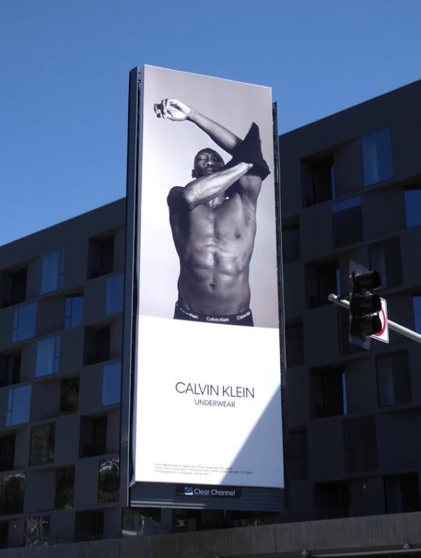 Mahershala Ali Calvin Klein Underwear billboard