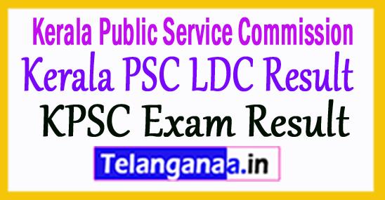 Kerala PSC LDC Result 2018
